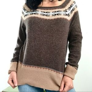 Brown boho vintage style sweater